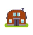 Brown Barn Suburban House Exterior Design vector image