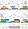 Neighborhood with homes on white background vector image