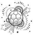 doodle pop soccer football vector image vector image