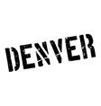 Denver rubber stamp vector image