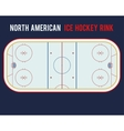 North American ice hockey rink isolated on the vector image