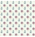 Seamless patterns anchors with shadow vector image vector image