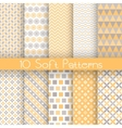 Vintage different seamless patterns tiling vector image