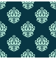 Seamless pattern with baroque floral tracery vector image