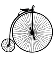 penny farthing bicycle vector image vector image