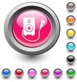 Karaoke round button vector image vector image