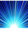 Abstract blue striped burst background vector image