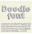 Abstract doodle font vector image
