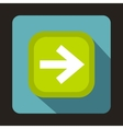 Arrow button icon flat style vector image