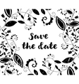 Black greeting or save the date card vector image