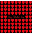 Happy Valentines day Greeting card Red and pink vector image