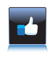 Like button vector image
