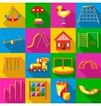 Playground icons set flat style vector image