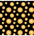 Seamless pattern of the coins vector image