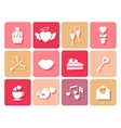 Set of wedding and Valentines icons for cards vector image