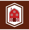 stable farm building icon vector image