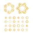 golden mandala set vector image