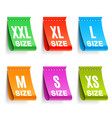color clothing size labels vector image