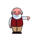 Old man giving a thumbs down vector image vector image