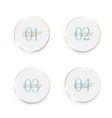 White buttons number options banners vector image vector image