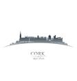 Cork Ireland city skyline silhouette vector image vector image