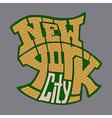 new york 1V vector image