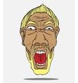 Face man vector image