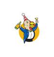 Turkey Celebrating Wine Party Hat Cartoon vector image vector image