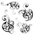 Floral tattoo shapes vector image vector image