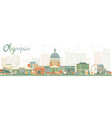 Abstract Olympia Washington Skyline vector image