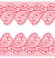 Decorative background with two lacy borders vector image