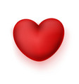 Realistic heart icon vector image