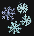 set of watercolor snowflakes snowflakes and ice vector image