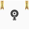 web camera icon vector image