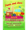 Hippie music festival poster vector image