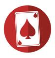 april fools day card aces shadow vector image