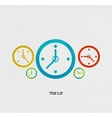 Modern paper design time concept vector image