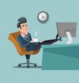 coffee break businessman relaxing vector image