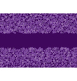 floral banner with lilac vector image