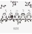 owls five vector image vector image