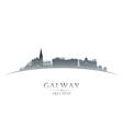 Galway Ireland city skyline silhouette vector image vector image