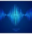 Blue equalizer vector image