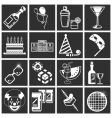 party icon set series vector image