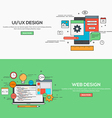 Flat design line concept vector image vector image