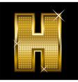 Golden font type letter H vector image