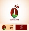 Organic coffee beans vector image