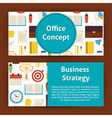 Office Concept and Business Strategy Modern Flat vector image
