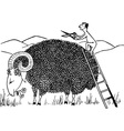 sheep haircut vector image vector image