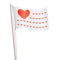 flag of love republic vector image