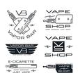 Vapor bar and vape shop badges vector image
